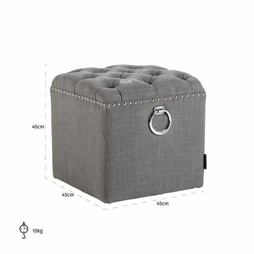 Pouf BrookeSilver nails and ring Meuble Déco Tendance - 375