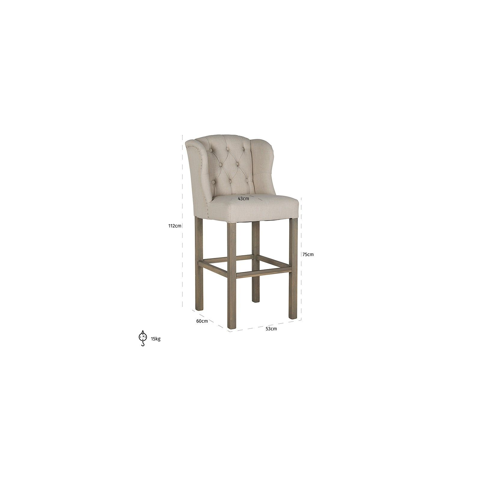 Tabouret DaisySilver nails and ring Meuble Déco Tendance - 6