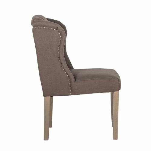 Chaise Macy fire retardantSilver nails and ring Salle à manger - 4