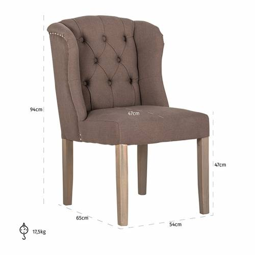 Chaise Macy fire retardantSilver nails and ring Salle à manger - 6