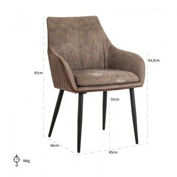 Chaise Chrissy PU leather Salle à manger - 194