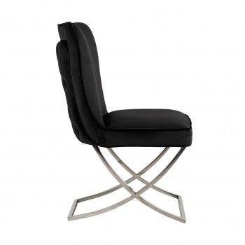 Chaise Scarlett Black velvet / silver Salle à manger - 73