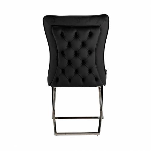 Chaise Scarlett Black velvet / silver Salle à manger - 125