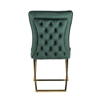 Chaise Scarlett Green velvet / gold Salle à manger - 108