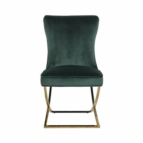 Chaise Scarlett Green velvet / gold Salle à manger - 155