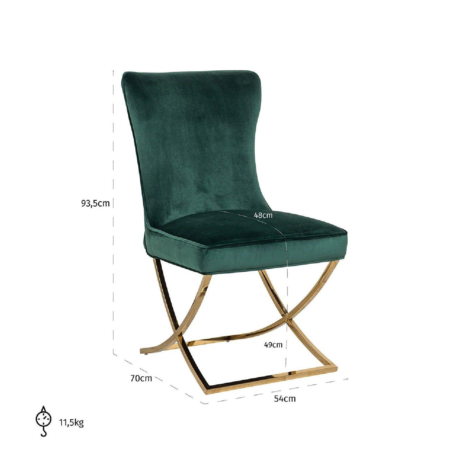 Chaise Scarlett Green velvet / gold Salle à manger - 192