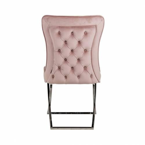 Chaise Scarlett Pink velvet / silver Salle à manger - 127