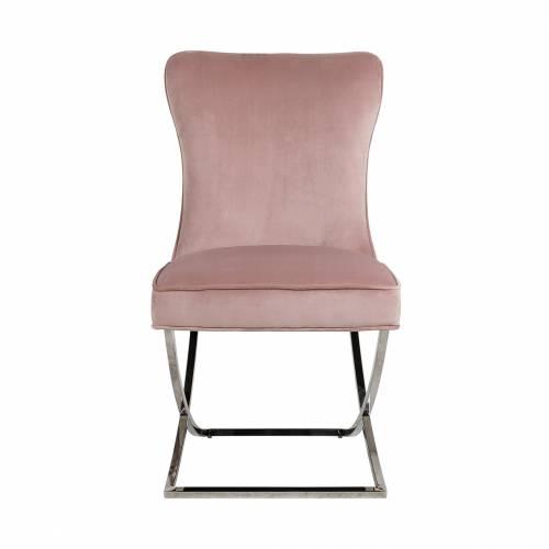 Chaise Scarlett Pink velvet / silver Salle à manger - 172
