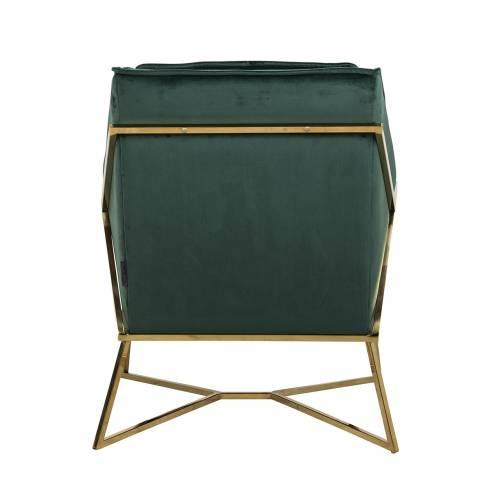 Fauteuil Aurelia Green velvet / gold Fauteuils - 252
