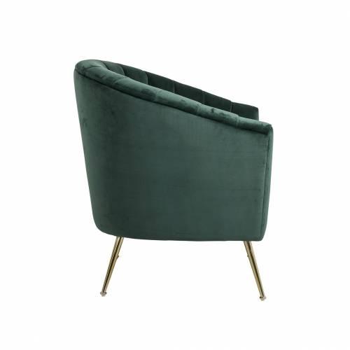 Fauteuil Shelly Green velvet / doré Fauteuils - 235