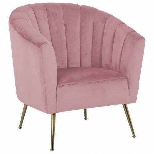 Fauteuil Shelly Pink velvet / doré Fauteuils - 226