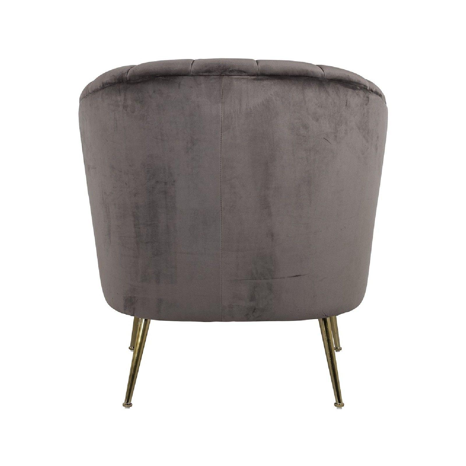 Fauteuil Shelly Stone velvet / doré Fauteuils - 248