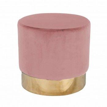 Pouf Lilou Pink velvet