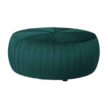 Pouf Joya Green velvet