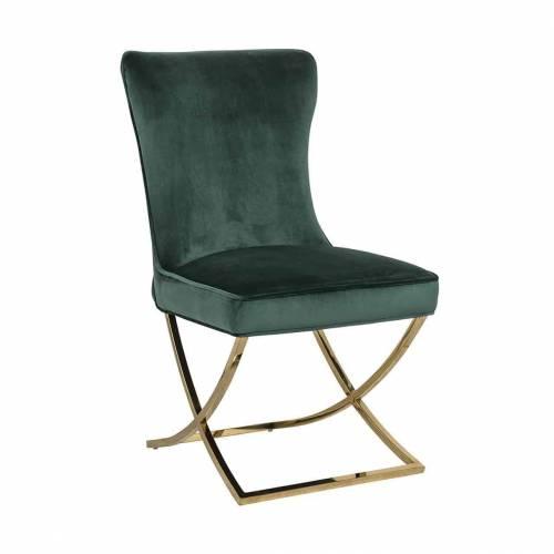 Chaise Chelsea Green velvet / gold Salle à manger - 11