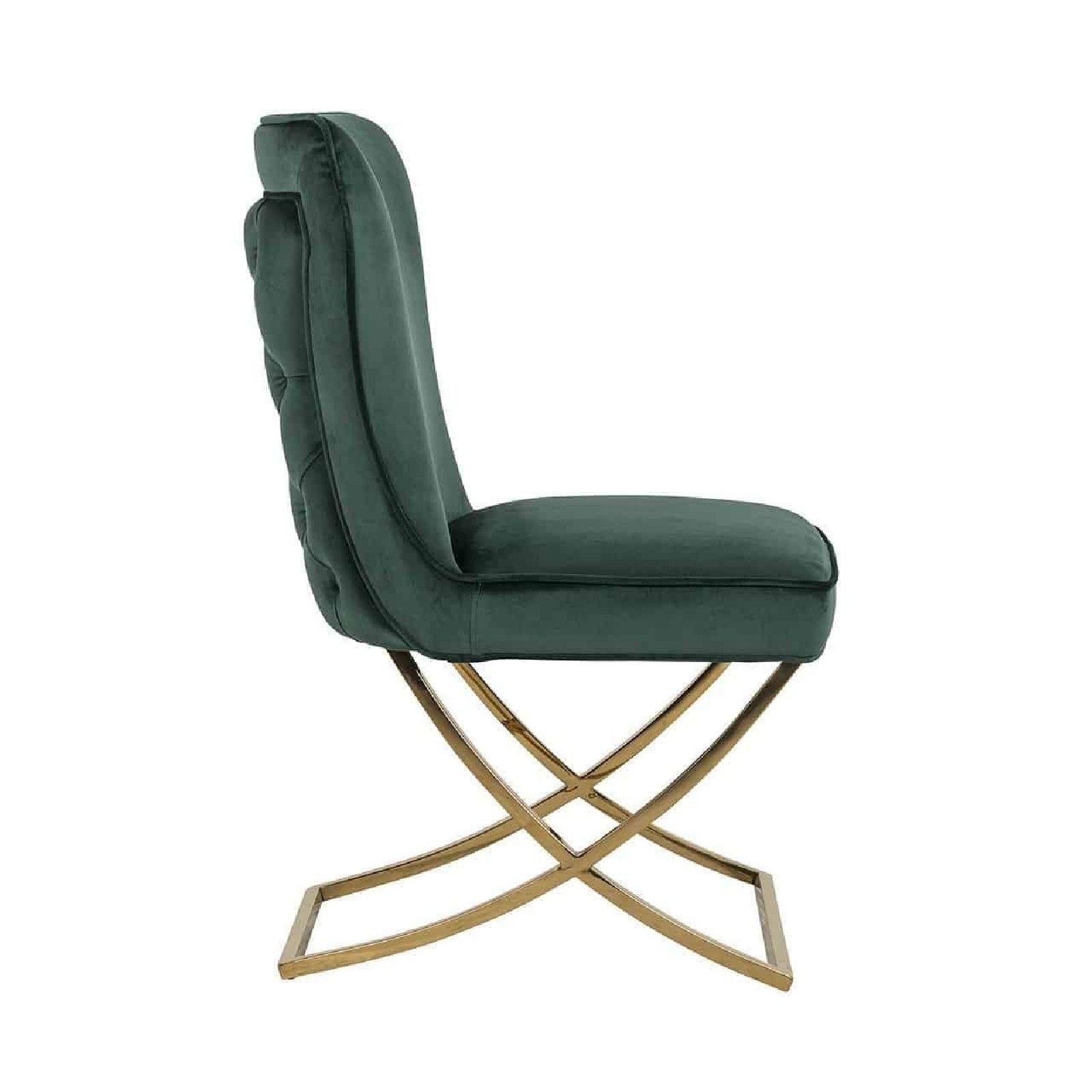 Chaise Chelsea Green velvet / gold Salle à manger - 78