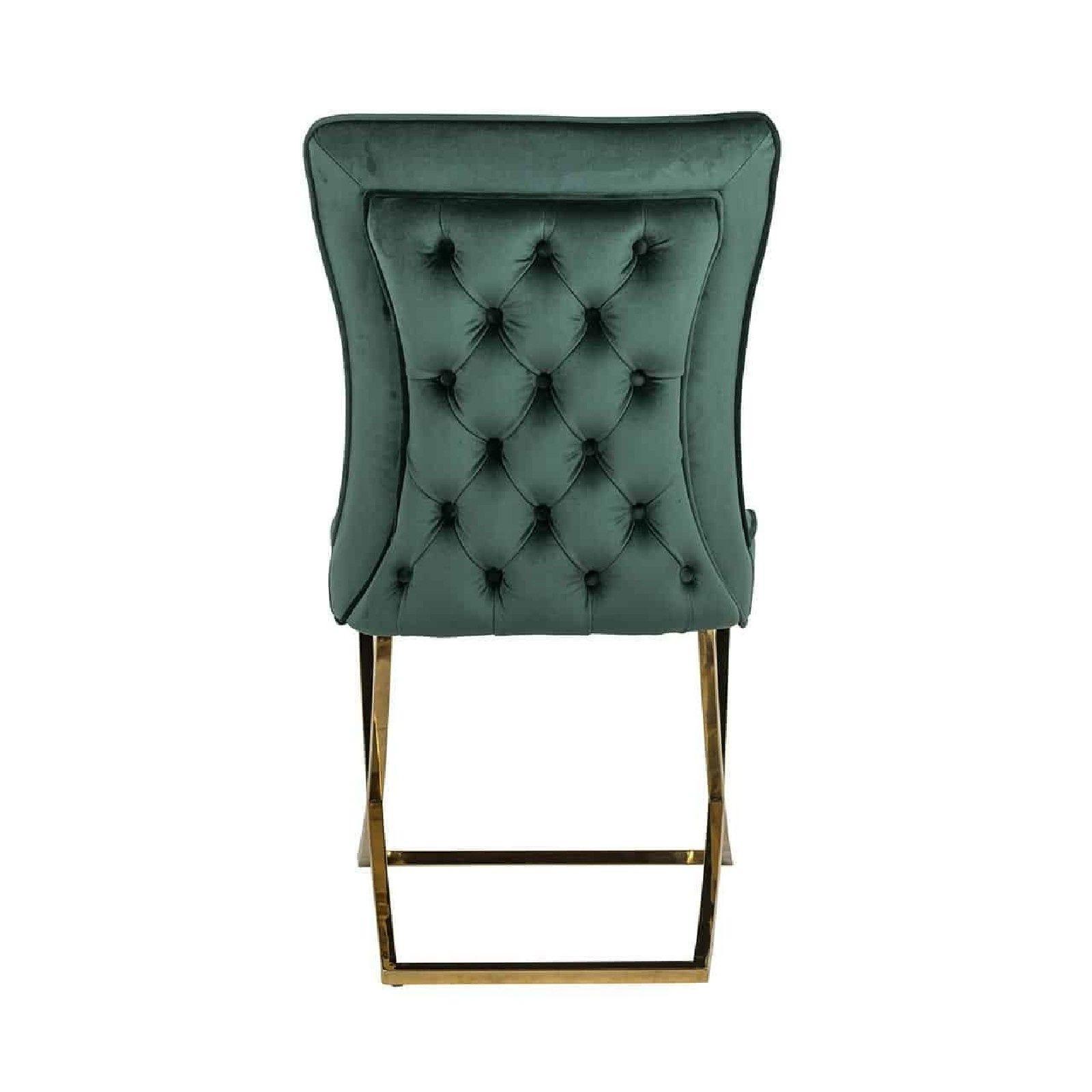 Chaise Chelsea Green velvet / gold Salle à manger - 130