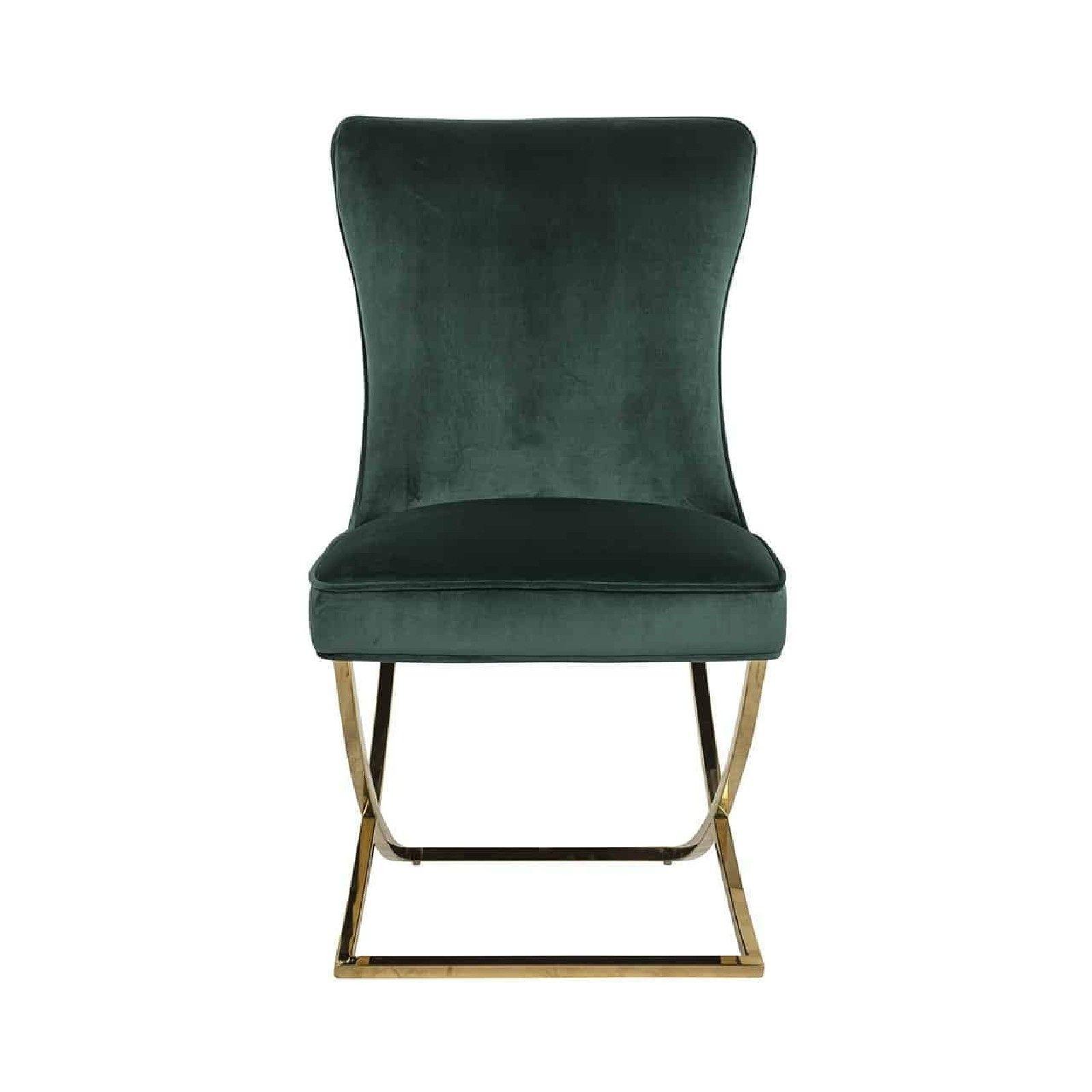 Chaise Chelsea Green velvet / gold Salle à manger - 175