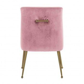 Chaise Indy Pink velvet / dorée FR Salle à manger - 114