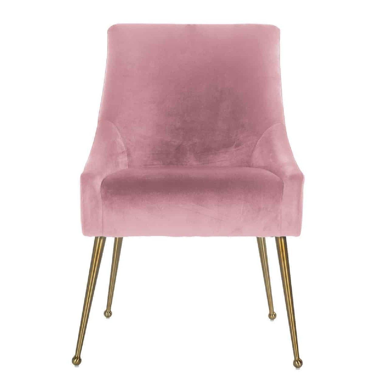 Chaise Indy Pink velvet / dorée FR Salle à manger - 160