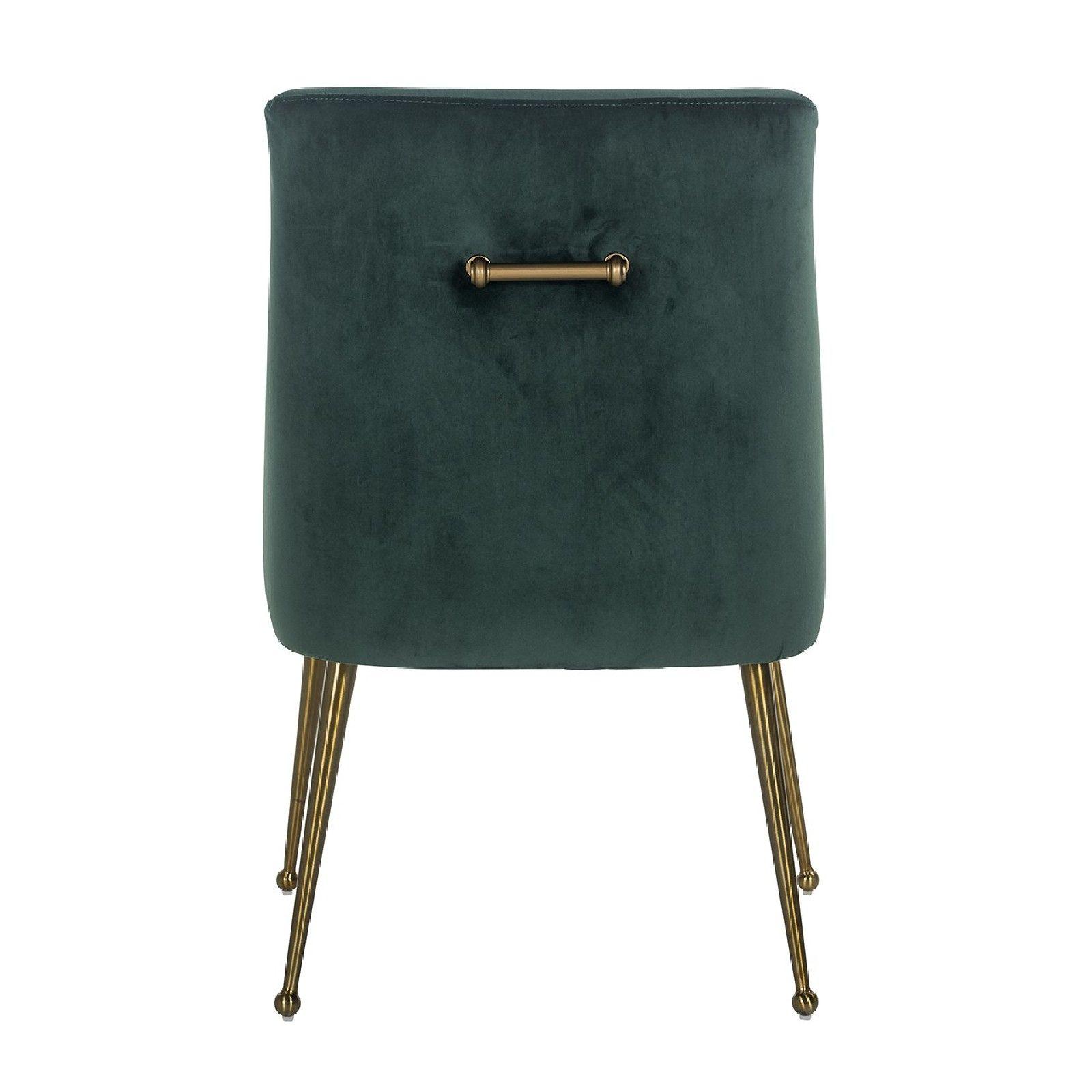 Chaise Indy Green velvet / dorée Salle à manger - 132