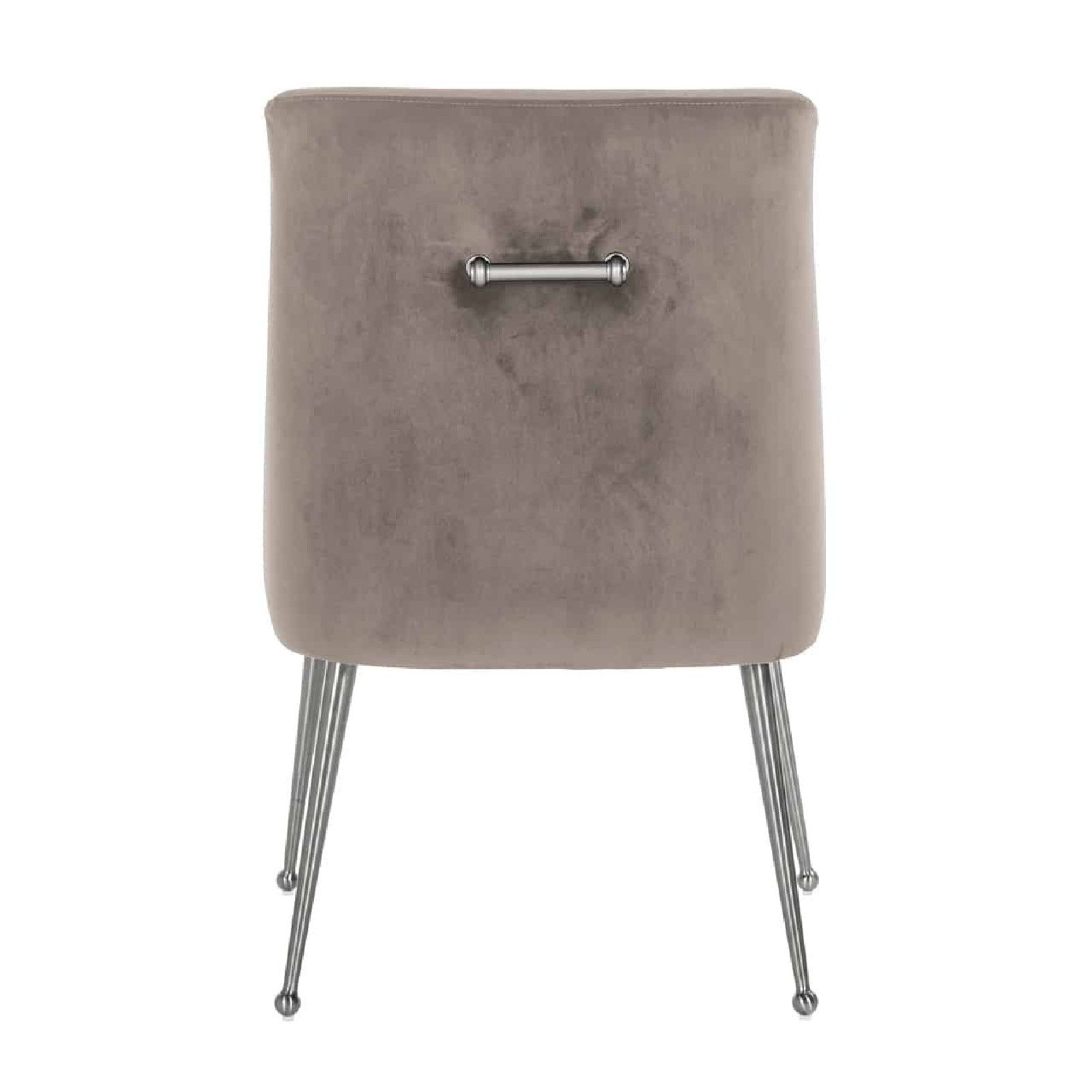 Chaise Indy Khaki velvet/ argentée Salle à manger - 121