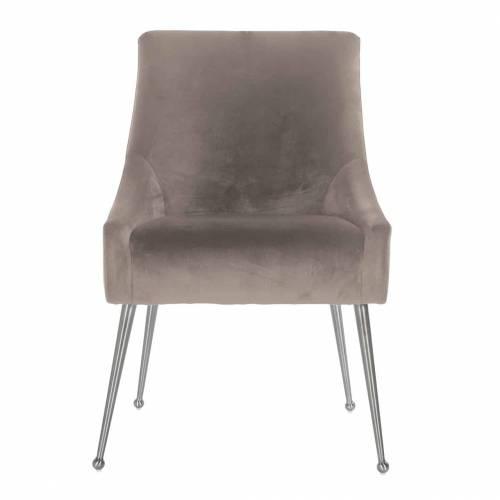 Chaise Indy Khaki velvet/ argentée Salle à manger - 166