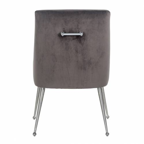 Chaise Indy Stone Velvet/ argentée Salle à manger - 134