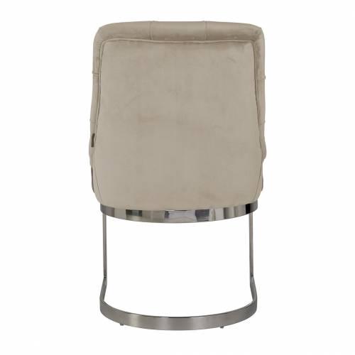 Chaise Chaya Khaki velvet / silver Salle à manger - 3