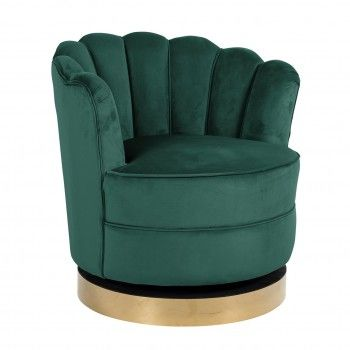 Chaise pivotante Mila Green...