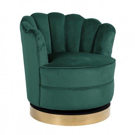 Chaise pivotante Mila Green velvet