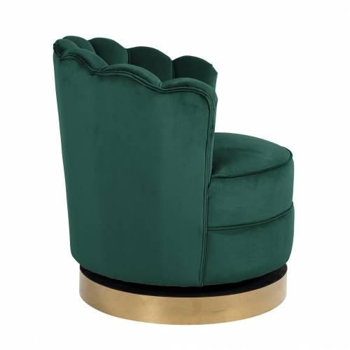 Chaise pivotante Mila Green velvet Fauteuils - 227