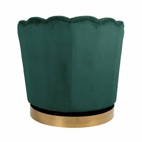 Chaise pivotante Mila Green velvet Fauteuils - 245