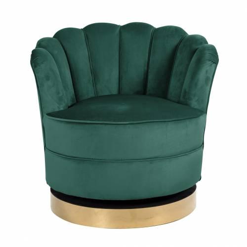 Chaise pivotante Mila Green velvet Fauteuils - 265