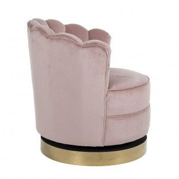 Chaise pivotante Mila Pink Velvet Fauteuils - 238