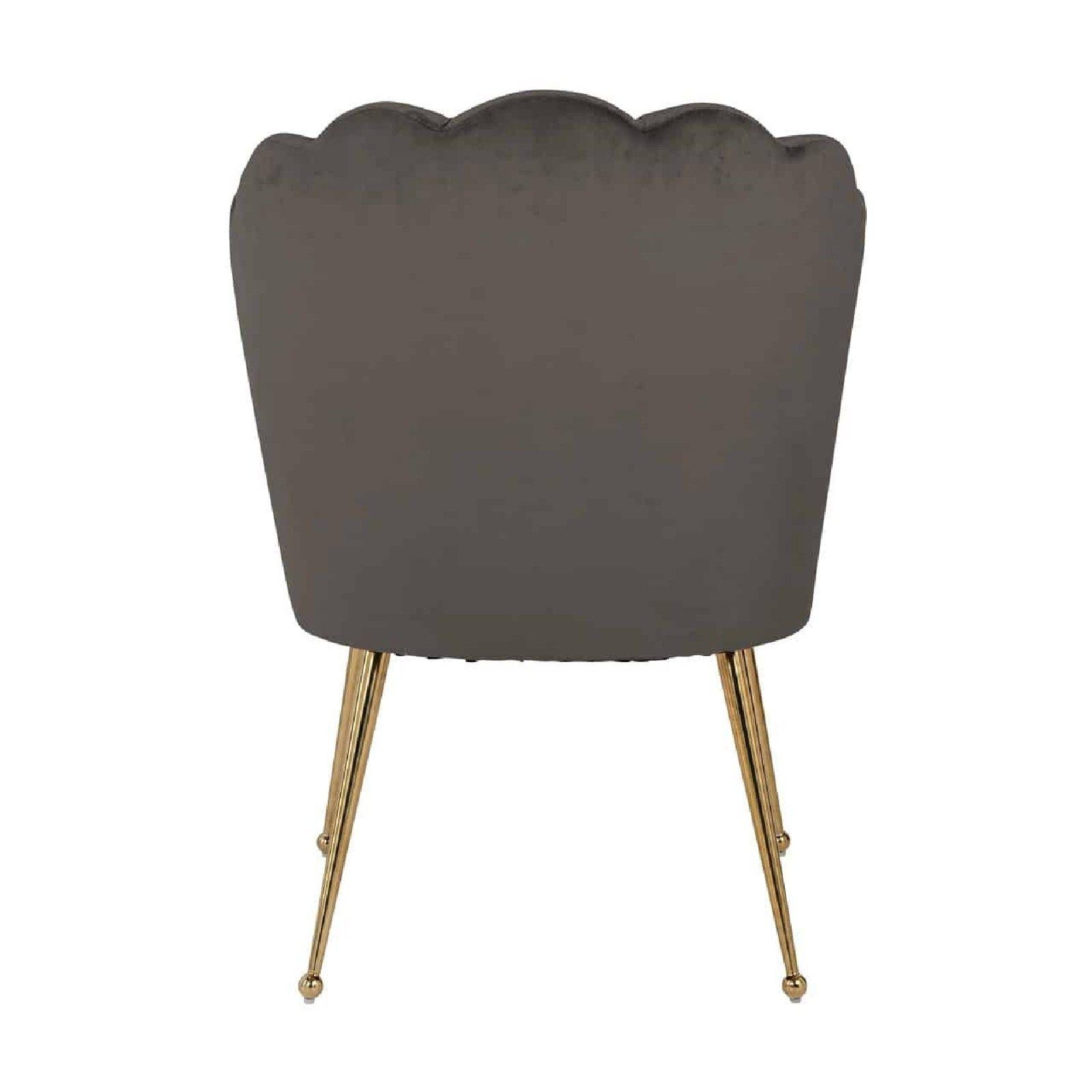 Chaise Pippa Stone velvet / gold Salle à manger - 138