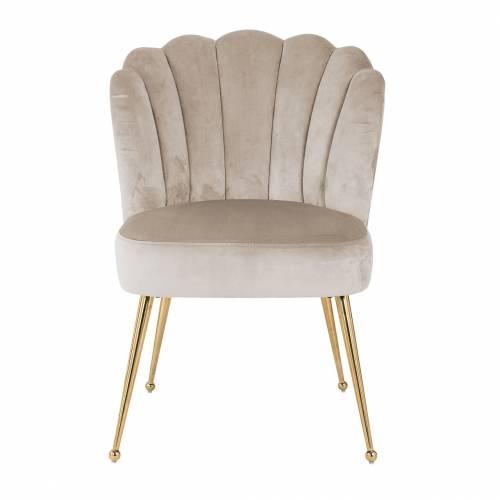Chaise Pippa Khaki velvet/ gold Salle à manger - 156