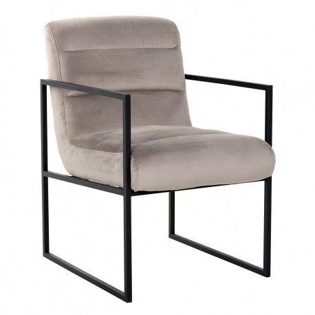 Chaise Clara Khaki velvet/ black