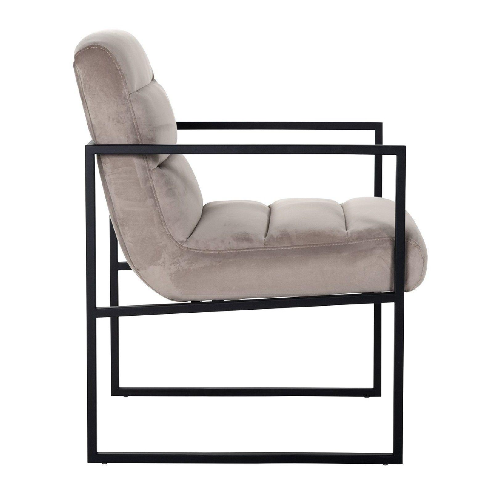 Chaise Clara Khaki velvet/ black Salle à manger - 100