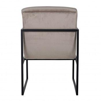 Chaise Clara Khaki velvet/ black Salle à manger - 107
