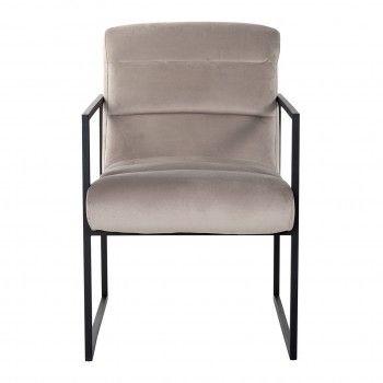 Chaise Clara Khaki velvet/ black Salle à manger - 154