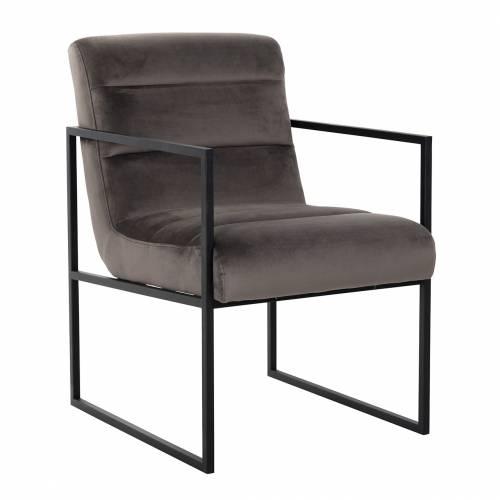Chaise Clara Stone velvet/ black Salle à manger - 25