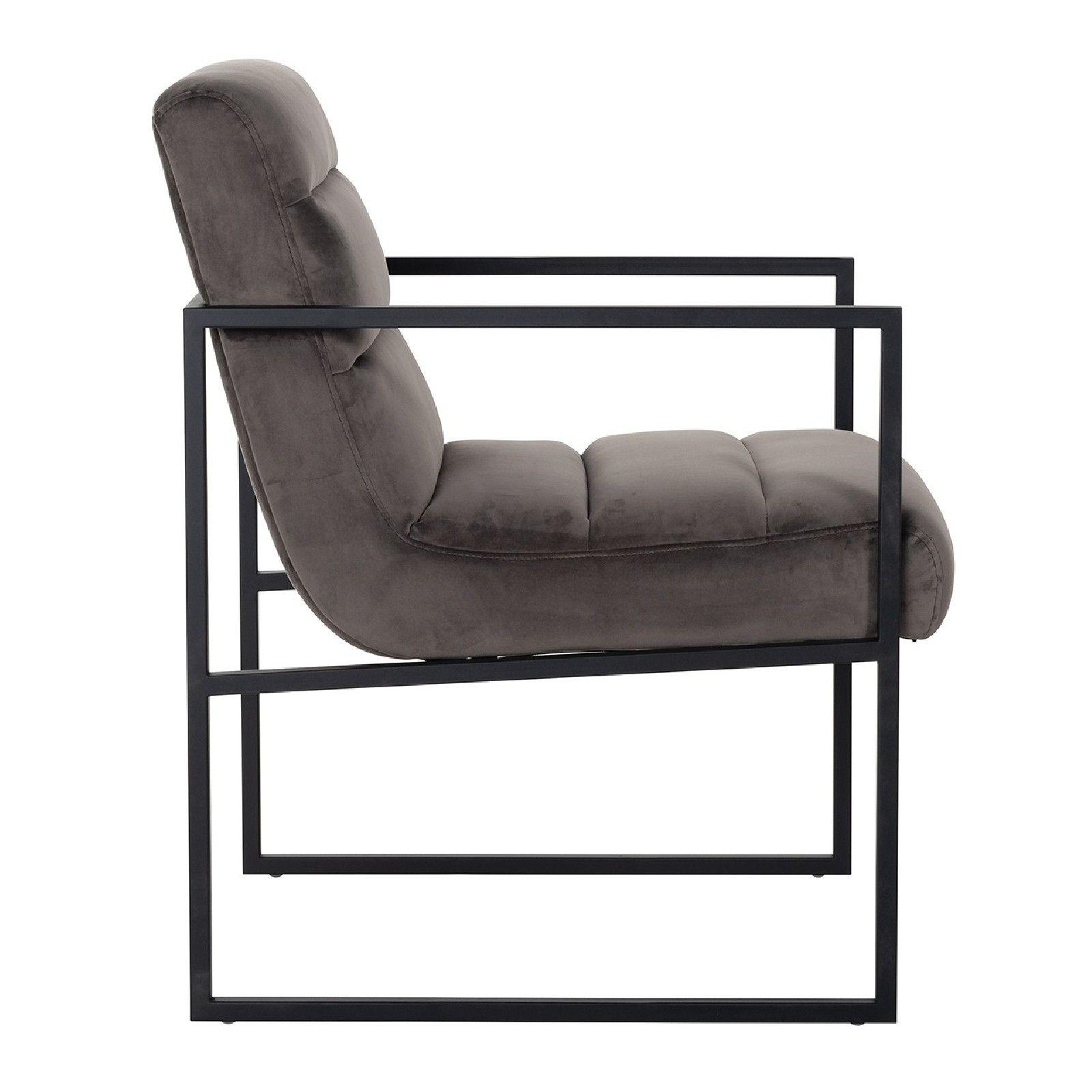 Chaise Clara Stone velvet/ black Salle à manger - 88
