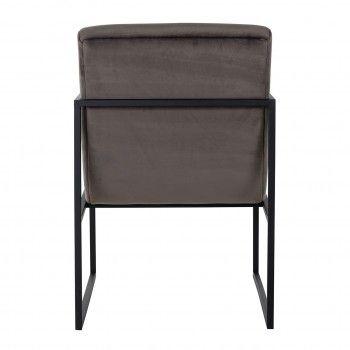 Chaise Clara Stone velvet/ black Salle à manger - 137