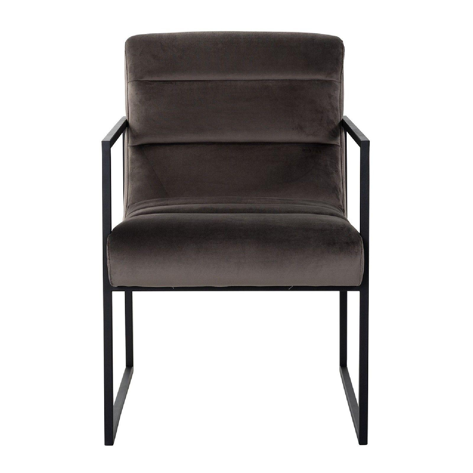 Chaise Clara Stone velvet/ black Salle à manger - 182