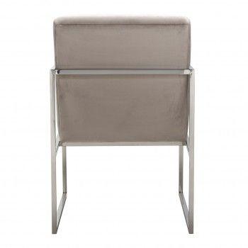 Chaise Rosa Khaki velvet / Silver Salle à manger - 133