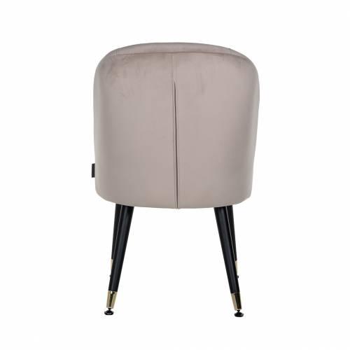 Chaise Julius Khaki Velvet, Gold footcap Salle à manger - 48