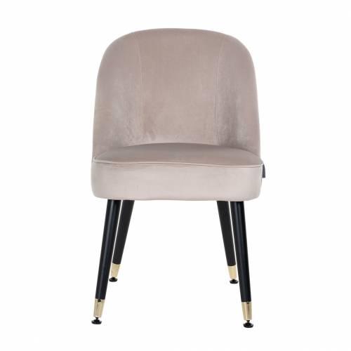 Chaise Julius Khaki Velvet, Gold footcap Salle à manger - 70