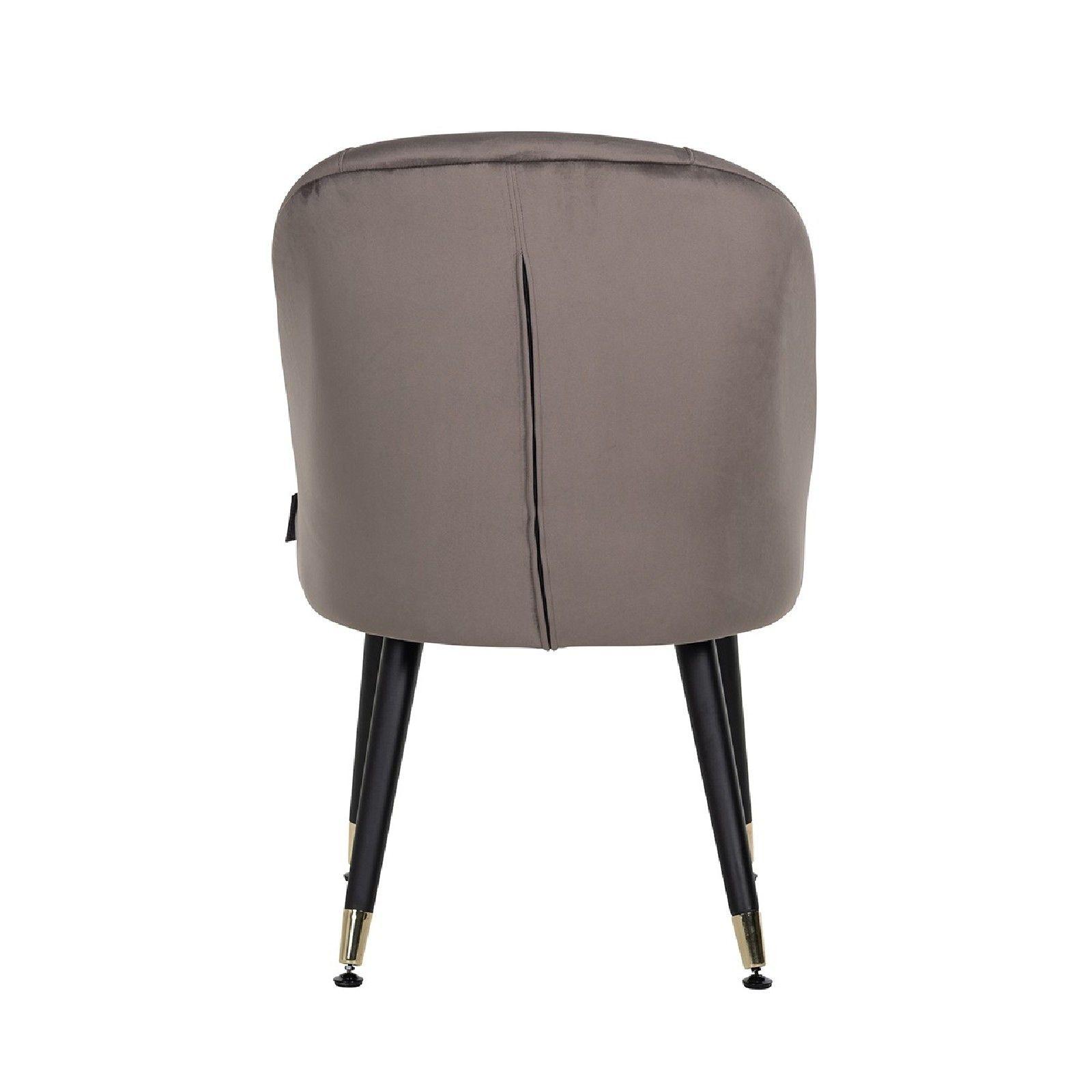 Chaise Julius Stone Velvet, Gold footcap Salle à manger - 44