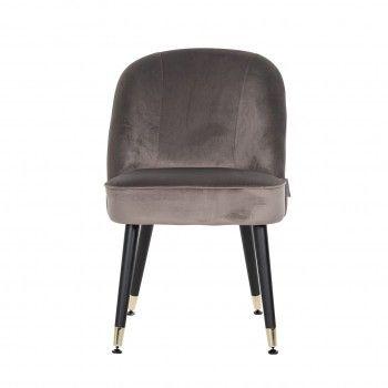 Chaise Julius Stone Velvet, Gold footcap Salle à manger - 66